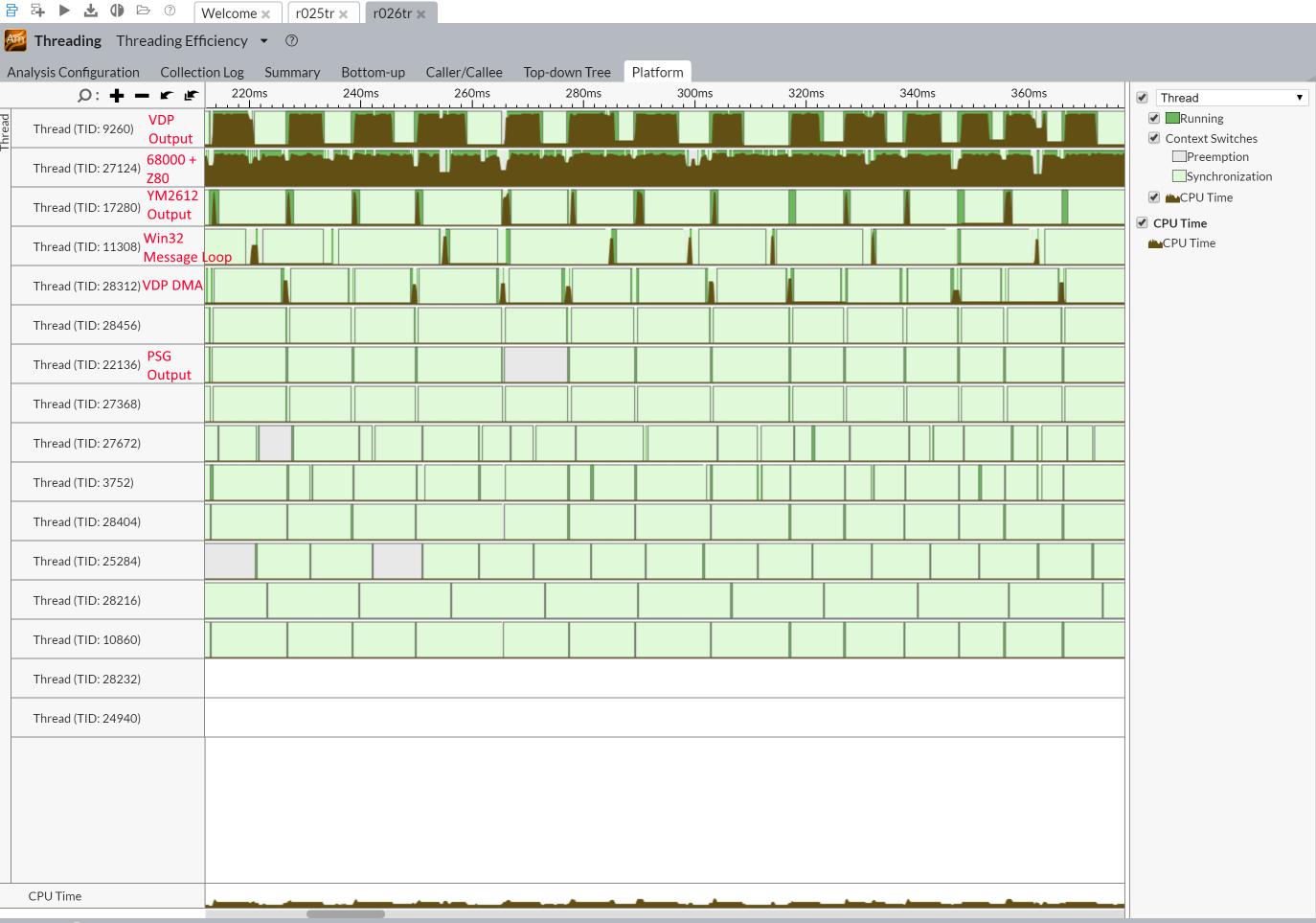 Designing a cooperative-threaded scheduler for an emulator